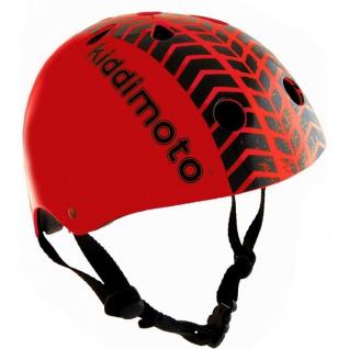 Kiddimoto Helm Tyre rot Größe M - 53-58 cm, geprüft nach EC EN1078