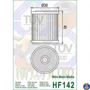 HF142 Yamaha Ölfilter TM Yamaha YFM 350 R Yamaha WR YZ OEM F66508 1UY-13440-01 1UY-13440-02