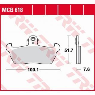 MCB618 Bremsbelag Aprilia Tuareg Cagiva Super City Mito Moto Guzzi 1000 Quota