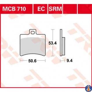 MCB710EC Bremsbelag Aprilia Benelli Beta Derbi Hyosung Malaguti TGB