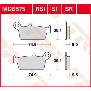 MCB575 Bremsbelag