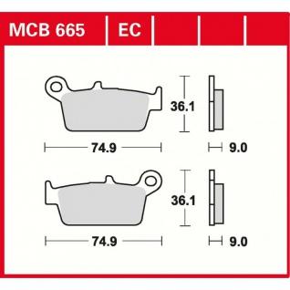 MCB665EC Bremsbelag Daelim Endres Honda Italjet Kawasaki Kymco Peugeot Sachs
