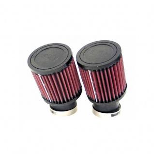 K&N Universalluftfilter 2 x FlanschØ 50mm, zylindrische Gummikappe, Ø 89mm, Länge: 102mm, Flansch-Typ: 20° Winkel