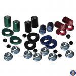 Valve Cap & Rim Lock Spacer Kit Application: Honda, Yamaha, Suzuki, Kawasaki, KTM MX & off-road models