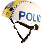 Kiddimoto Helm Police Polizei Größe S - 48-53 cm, geprüft nach EC EN1078