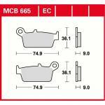 MCB665 Bremsbelag Daelim Endres Honda Italjet Kawasaki Kymco Peugeot Sachs