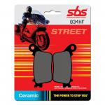 Bremsbelag SBS 834HF Street Ceramic Honda CB600 CBR 600 CBR 1000 Suzuki GSX-R 600 750