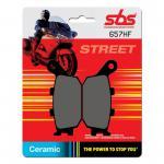 Bremsbelag SBS 657HF Street Ceramic Honda CB CBF CBR Yanmaha FZ Suzuki GSF Kawasaki