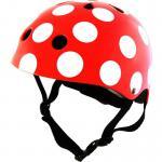 Kiddimoto rot mit weissen Punkten Dotty rot Punkten Größe M - 53-58 cm, geprüft nach EC EN1078