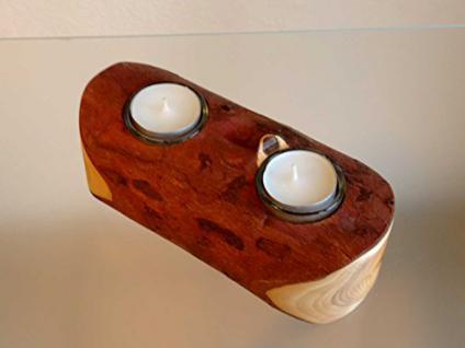 Teelicht-Halter aus Eibenholz - Vorschau 3