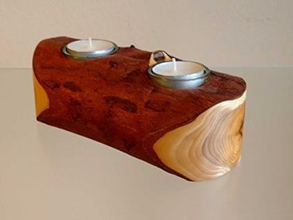Teelicht-Halter aus Eibenholz - Vorschau 1