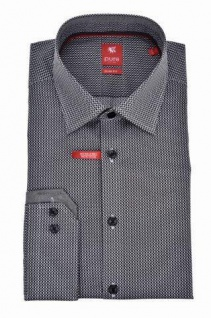 Pure - Slim Fit - Bügelfreies Herren Langarm Hemd City Red mit Kent Kragen (3579-154)