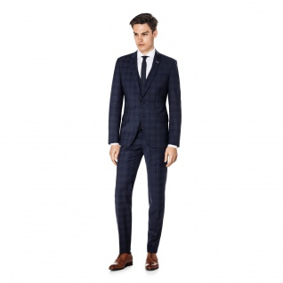 Benvenuto Purple - Super Slim Fit - Herren Baukasten Anzug, Othello/Iago 360° (20895)