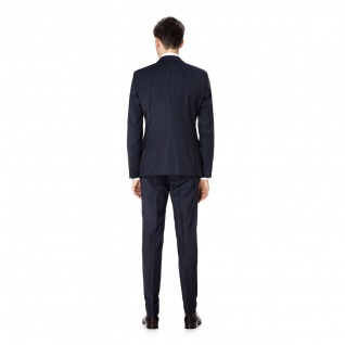 Benvenuto Purple - Super Slim Fit - Herren Baukasten Anzug gestreift, Othello/Iago 360° (20897) 2