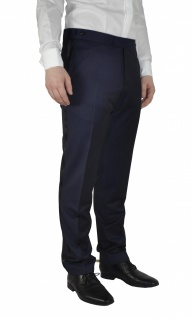 Masterhand - Tailored Fit - Festliche Herren Smoking Hose in Blau, 900 8095 (Tam)