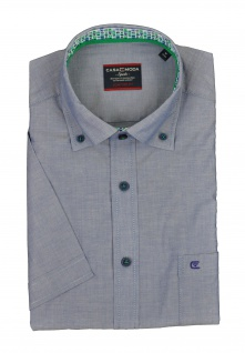 Casa Moda - Comfort Fit - Herren Freizeit 1/2-Arm-Hemd mit Button Down Kragen in Blau (972764300)
