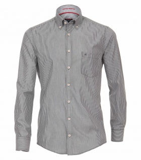 Casa Moda - Casual Fit - Herren Popeline Hemd, gestreift mit Button Down-Kragen (472837000A)