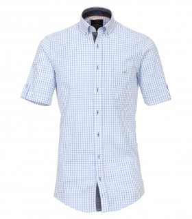 Casa Moda - Casual Fit - Herren Freizeit 1/2-Arm-Hemd mit Button Down-Kragen (982905500)