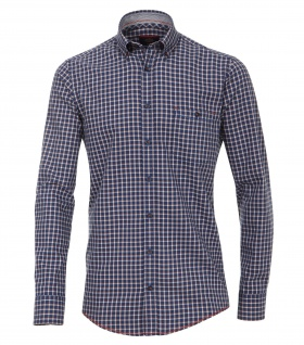 Casa Moda - Casual Fit - Twill Herren Hemd kariert mit Button Down-Kragen in Blau (472801700A)
