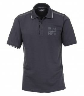 Casa Moda - Herren Polo-Shirt unifarben mit modischem Print in anthrazit (982963400)