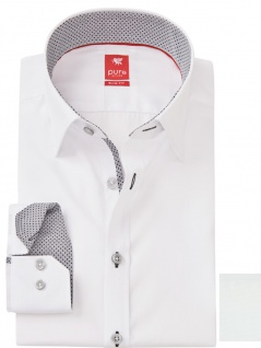 Pure - Slim Fit - Edles Herren Langarm Hemd mit Inside Button Down Kragen (3564 148)