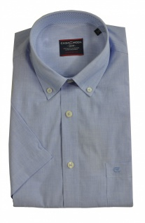 Casa Moda - Casual Fit - Herren Freizeit 1/2-Arm-Hemd in blau mit Button-Down-Kragen (983078600)