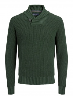 Jack & Jones - Herren Pullover, JPRFELIX KNIT SHAWL NECK, (Art.12144088)