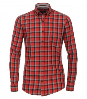 Casa Moda - Casual Fit - Herren Karo Twill Hemd mit Button-Down-Kragen (462602900 A)