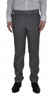 Masterhand - Tailored Fit - Herren Baukasten Hose in Grau oder Braun, 900 0019 (Terry)