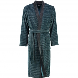 Cawö - Herren Walkvelours Bademantel in Kimono-Form (4848) - Vorschau 2