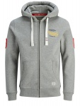 Jack & Jones - Herren Sweatshirt mit Kapuze, Plus Size, Große Größen, Jorfara Sweat Zip Hood PS (Art. 12142698)
