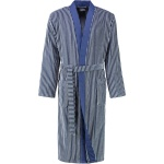 Cawö - Extra leichter Herren Walkvelours Bademantel Kimono in Blau (2843)