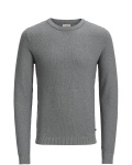 Jack & Jones - Herren Pullover, JJESTRUCTURE KNIT CREW NECK (Art. 12137171)