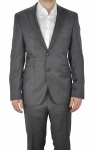 Masterhand - Tailored Fit - Herren Anzug aus reiner Schurwolle in Grau, 116 0094 (Travel Terry)
