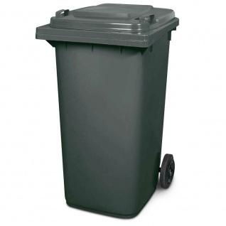 Mülltonne, Inhalt 240 Liter, HxBxT 1075 x 580 x 730 mm, Farbe grau