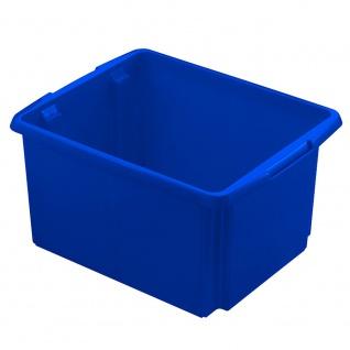 Drehstapelbehälter, Inhalt 32 Liter, Farbe blau, LxBxH 455 x 360 x 245 mm