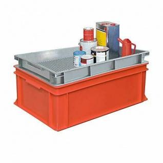 Kunststoff-Auffangbehälter 43 Liter Auffangvolumen mit abnehmbarem Abtropfrost