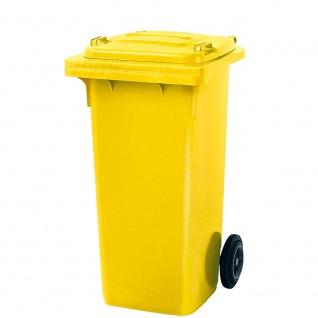 Mülltonne, Inhalt 120 Liter, HxBxT 930 x 480 x 550 mm, Farbe gelb