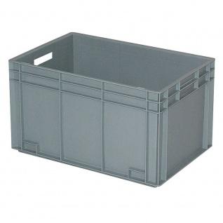 Eurobehälter mit 2 Durchfassgriffen, LxBxH 600 x 400 x 340 mm, grau, Boden/Wände geschlossen
