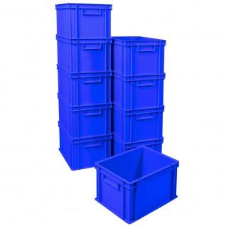 10x Eurobehälter / Stapelboxen, blau, LxBxH 400x300x235 mm, 22, 5 Liter
