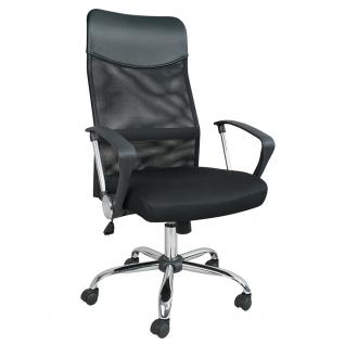 Bürostuhl, 1110-1200 x 640 x 630 mm, Farbe schwarz, Restposten (70904) - Vorschau