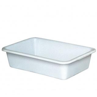 Wanne mit umlaufendem U-Rand, 40 Liter, LxBxH 710 x 490 x 185 mm, weiß
