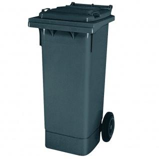 Mülltonne nach EN 840 und RAL-GZ 951/1, 80 Liter, grau, BxTxH 445 x 520 x 930 mm