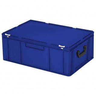 Aufbewahrungskoffer / Kunststoffkoffer, LxBxH 600 x 400 x 230 mm, 43 Liter, blau