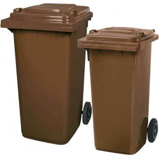 Mülltonnen Set nach DIN EN 840 u. RAL-GZ 951/1, 1x 120 l braun u. 1x 240 l braun