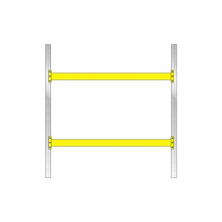 Palettenregal, 2 Paar Tragbalken, BxTxH 2925x1100x3000 mm, Stecksystem