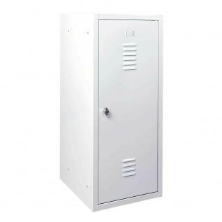 Schließfachschrank aus Stahlblech, HxBxT 900x415x490 mm, lichtgrau/lichtgrau