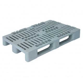 Hygienepalette H1, LxBxH 1200 x 800 x 160 mm, Oberdeck durchbrochen, 100% PE-Kunststoff, grau