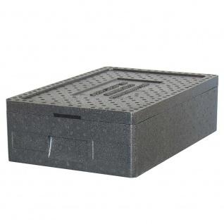 Thermobox GN1/1 mit Deckel, LxBxH 600 x 400 x 180 mm, Inhalt 20 Liter, anthrazit