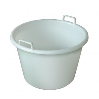 Rundbehälter, 50 Liter, ØxH 550/380 x 400 mm, weiß - Vorschau